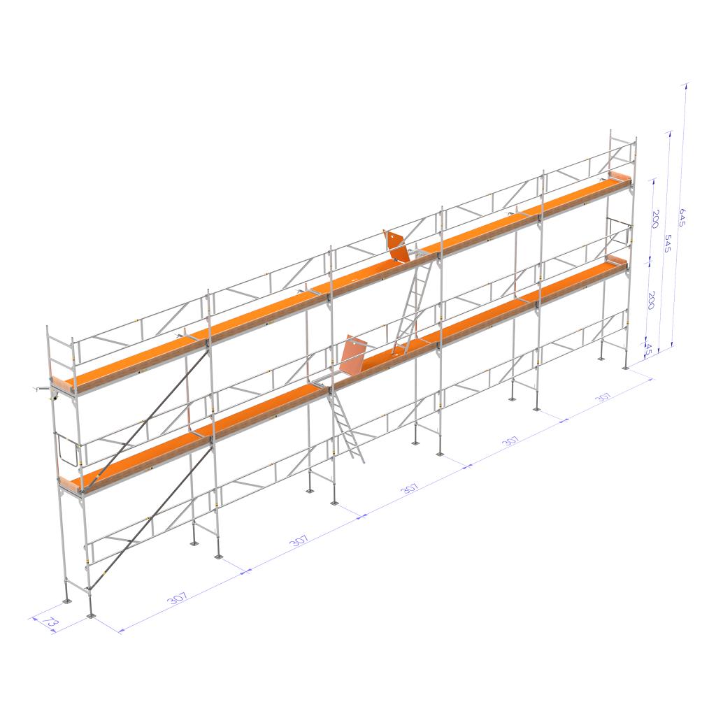 Frame Scaffold 15×6 m - Pakete - Rahmen Gerüst (Aluminium ...